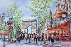 Champs Elysees, Paris by Phillip Bissell -  sized 36x24 inches. Available from Whitewall Galleries